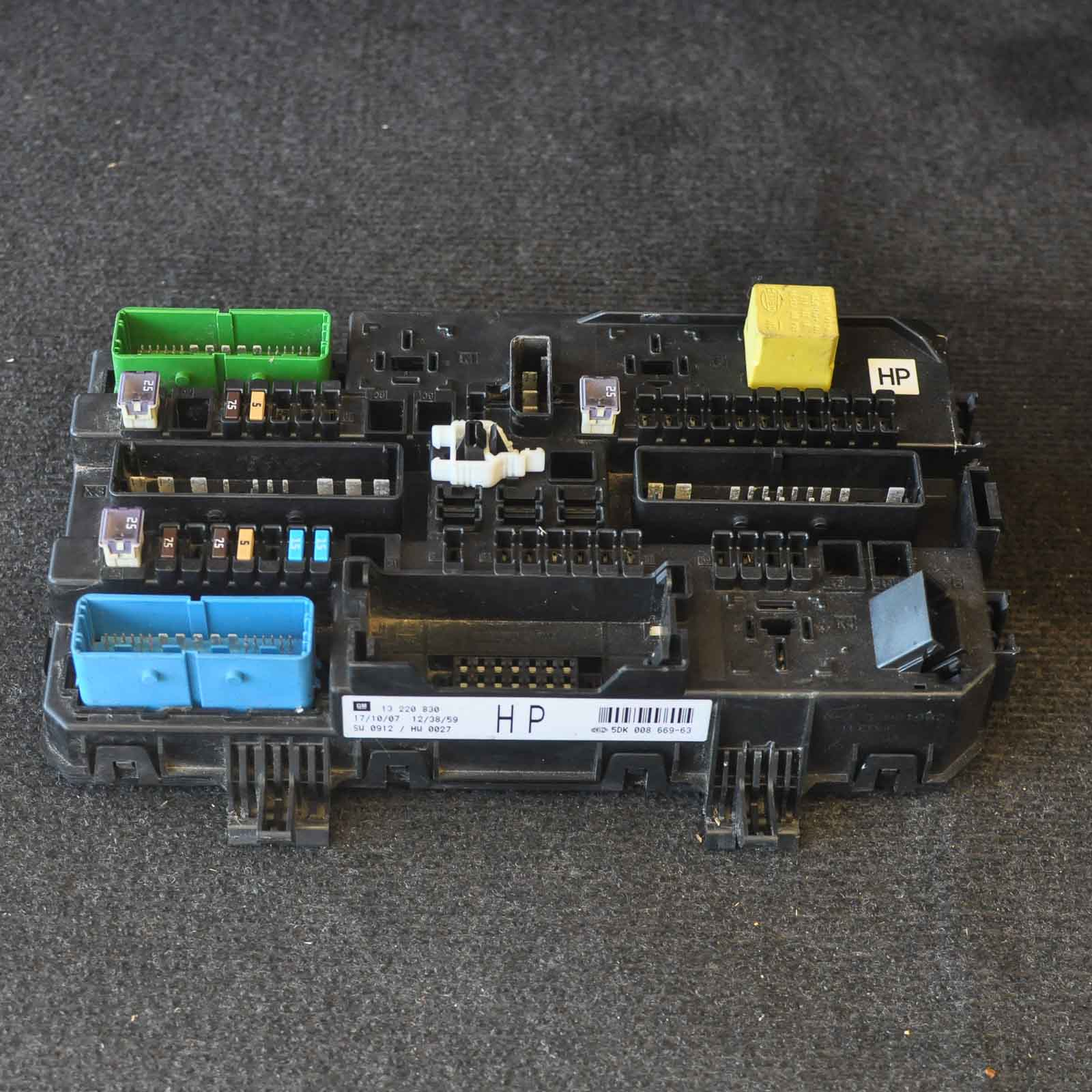 Opel Astra H Fuse Box Great Design Of Wiring Diagram Mk4 Vauxhall 13220830 Ebay Car 2010 Coupe